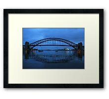 Iconic Reflections- Sydney Harbour Australia Framed Print