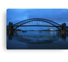Iconic Reflections- Sydney Harbour Australia Canvas Print