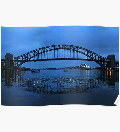 Iconic Reflections- Sydney Harbour Australia Poster