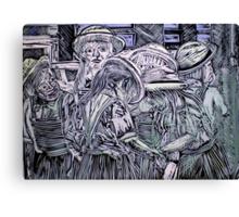 Chelsea Girls - Lino Cut Print Canvas Print