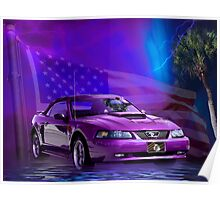 Purple Stang Poster