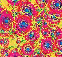 Colorful floral artwork by Gaspar Avila