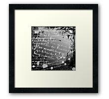 Moving Words Framed Print