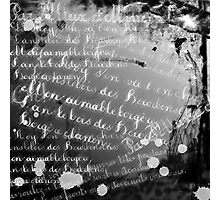 Moving Words Photographic Print