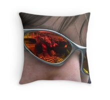Reflections in Sunglasses Throw Pillow