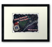 Merry SPACEmas... so much space  Framed Print