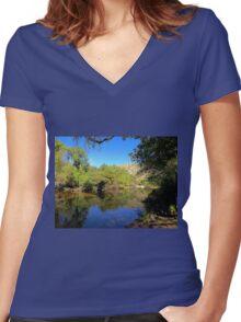 Lake Sabino Women's Fitted V-Neck T-Shirt