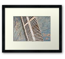 aged shutters Framed Print