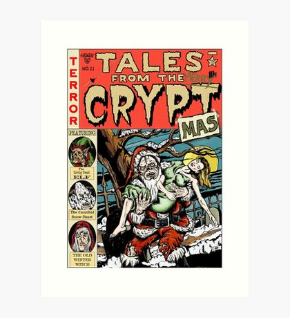 Merry Christmas / Tales From the Cryptmas Art Print