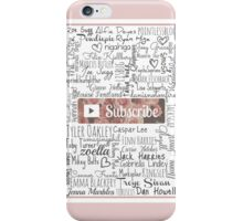 YouTuber Subscribe Floral Collage iPhone Case/Skin