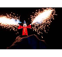 Sorcerer Mickey Fantasmic Photographic Print