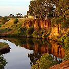 Cliffs over Werribee River by rflower