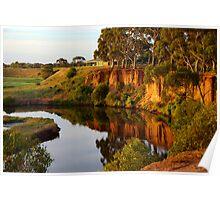 Cliffs over Werribee River Poster