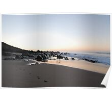 Sunrise on Basham Beach Poster
