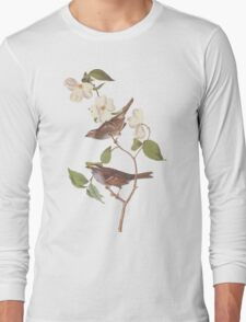 Audubon White Throated Sparrow Long Sleeve T-Shirt