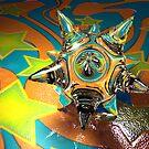 glass spikeball by damiankafe