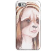 Raccoon Girl iPhone Case/Skin