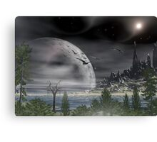 Moon over Tiberian IV Canvas Print