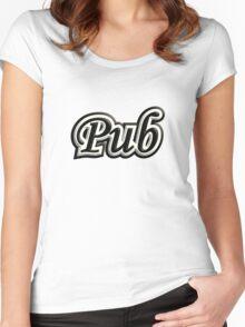 Pub B&W Women's Fitted Scoop T-Shirt