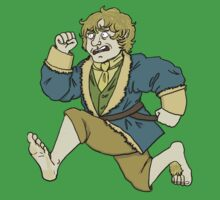 run bilbo!! Kids Clothes