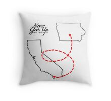 Long Distance for socalcutie93 Throw Pillow