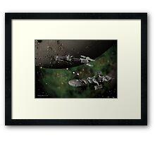 Orbital Investigation at Minos Gamma Framed Print
