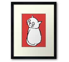 WHAT YOU LOOKIN' AT CAT Framed Print