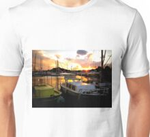 landscape sea and boats Unisex T-Shirt