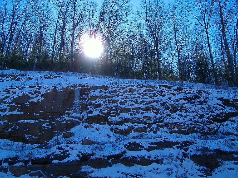 winter sunrise by rebecca smith