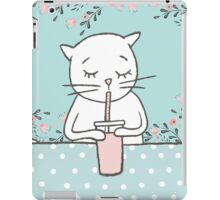 CAT WITH MILKSHAKE iPad Case/Skin