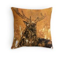 Golden Hind - stag Throw Pillow