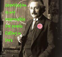 Einstein speaking about love in 1921 by JoAnnFineArt