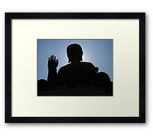 Buddha says hello Framed Print