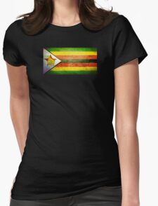 Zimbabwe - Vintage Womens Fitted T-Shirt