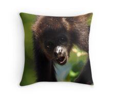 Howler monkey Throw Pillow
