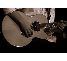 Eric Playing Guitar Photographic Print