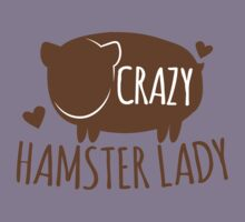 Crazy Hamster lady Kids Clothes
