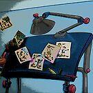 Comic Abstract Drawing Table by steelwidow