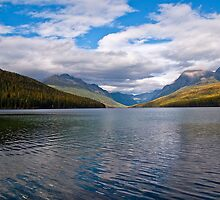 October at Bowman Lake by Bryan D. Spellman