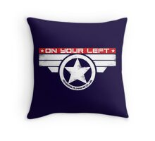 """On Your Left"" Hybrid Inverted Throw Pillow"