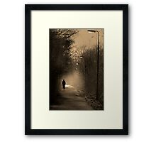 Take A Ride on The Dark Side Framed Print