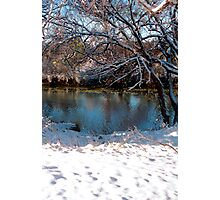 Snow on the River Photographic Print