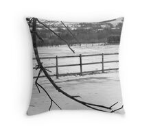 over the gate Throw Pillow
