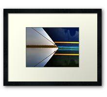 Bow Lines Framed Print