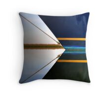 Bow Lines Throw Pillow