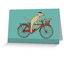 Dog & Squirrel are Friends Greeting Card