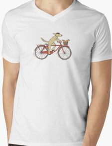 Dog & Squirrel are Friends Mens V-Neck T-Shirt
