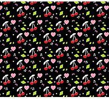 Cherries, Hearts and Music Photographic Print