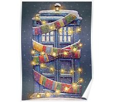Doctor Who Christmas Tardis  Poster
