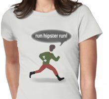 Run Run Hipster Womens Fitted T-Shirt